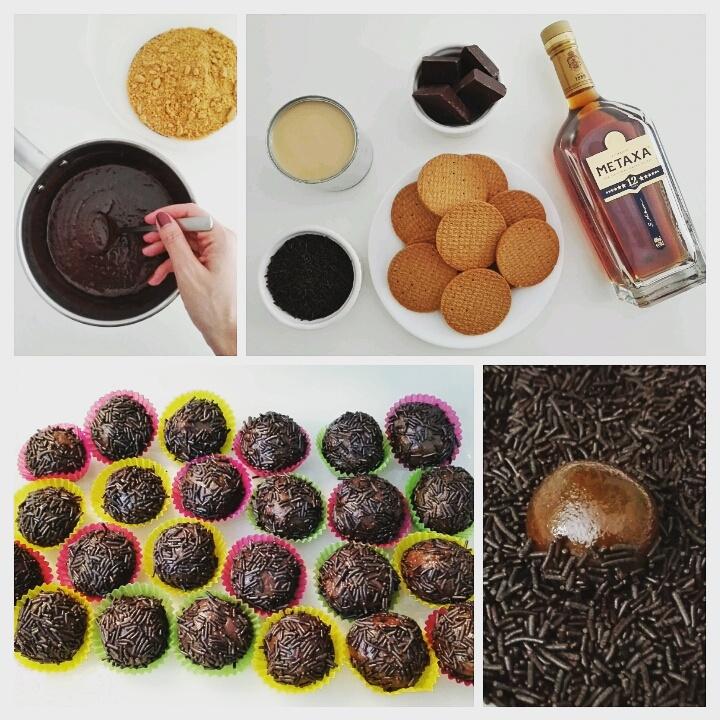 Τρουφάκια με μπισκότο